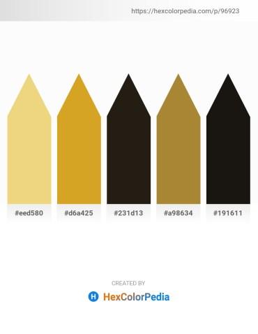 Palette image download - Khaki – Goldenrod – Black – Peru – Black