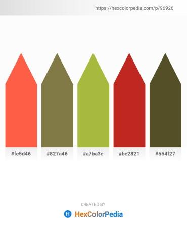 Palette image download - Tomato – Dark Olive Green – Yellow Green – Firebrick – Dark Olive Green