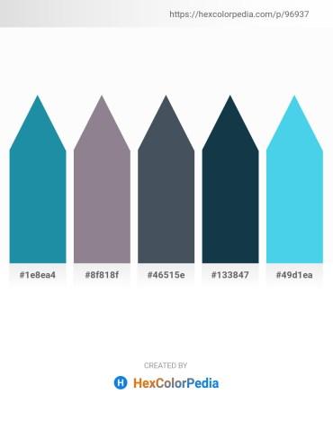 Palette image download - Light Sea Green – Gray – Dark Slate Gray – Midnight Blue – Turquoise