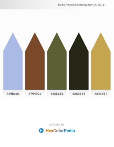 Palette image download - Light Blue – Sienna – Dark Olive Green – Slate Gray – Dark Khaki
