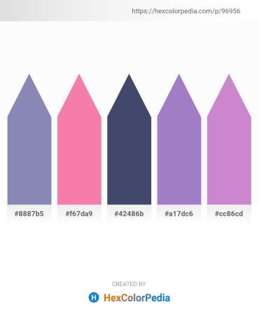 Palette image download - Light Slate Gray – Hot Pink – Brown – Medium Purple – Medium Orchid