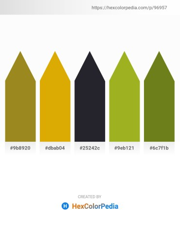 Palette image download - Olive Drab – Orange – Medium Aquamarine – Yellow Green – Olive Drab