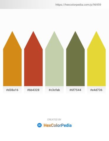 Palette image download - Goldenrod – Firebrick – Dark Sea Green – Dark Olive Green – Goldenrod