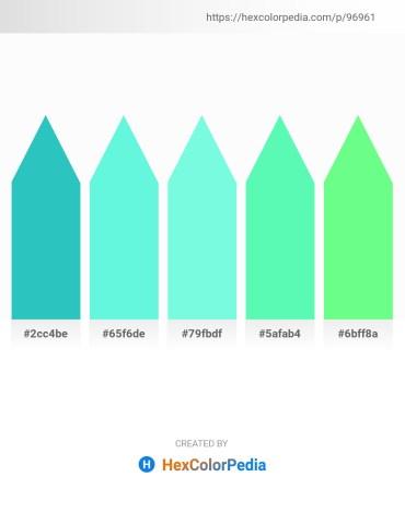 Palette image download - Light Sea Green – Aquamarine – Aquamarine – Aquamarine – Pale Green