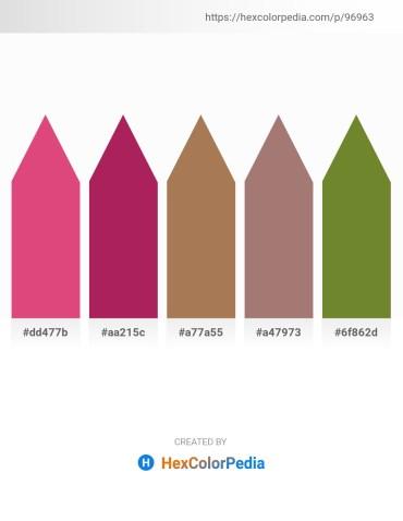 Palette image download - Pale Violet Red – Firebrick – Dark Olive Green – Rosy Brown – Olive Drab