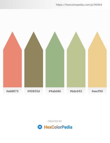 Palette image download - Dark Salmon – Gray – Dark Sea Green – Dark Khaki – Khaki