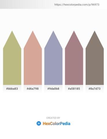 Palette image download - Dark Khaki – Tan – Light Slate Gray – Rosy Brown – Gray