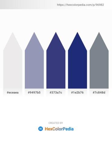 Palette image download - White Smoke – Light Slate Gray – Dark Slate Blue – Midnight Blue – Slate Gray