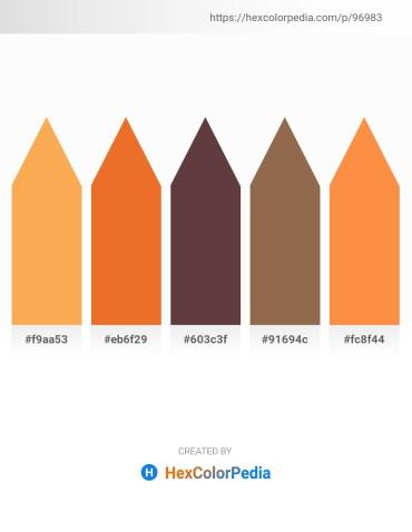 Palette image download - Sandy Brown – Chocolate – Dim Gray – Sienna – Coral