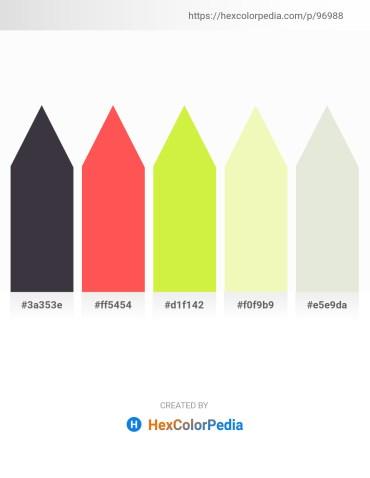 Palette image download - Dim Gray – Tomato – Green Yellow – Light Goldenrod Yellow – Beige