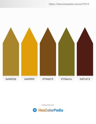 Palette image download - Rosy Brown – Orange – Saddle Brown – Olive Drab – Saddle Brown