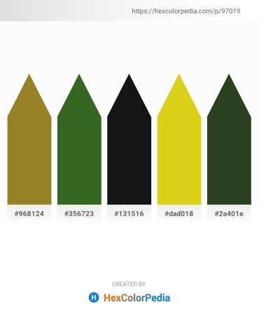 Palette image download - Olive Drab – Dark Olive Green – Peru – Goldenrod – Dark Olive Green