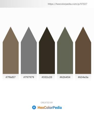 Palette image download - Dim Gray – Gray – Dark Khaki – Dim Gray – Burlywood