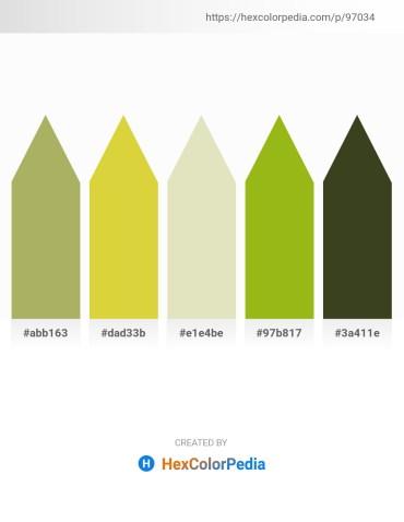 Palette image download - Dark Khaki – Goldenrod – Beige – Yellow Green – Dark Olive Green
