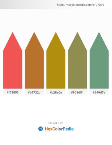 Palette image download - Tomato – Peru – Dark Goldenrod – Dark Khaki – Cadet Blue