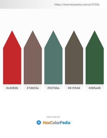 Palette image download - Firebrick – Dim Gray – Slate Gray – Dim Gray – Dark Slate Gray