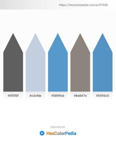 Palette image download - Dim Gray – Light Steel Blue – Steel Blue – Gray – Steel Blue