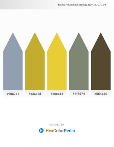 Palette image download - Light Slate Gray – Goldenrod – Goldenrod – Gray – Dark Olive Green