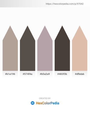 Palette image download - Rosy Brown – Dim Gray – Dark Gray – Dim Gray – Tan
