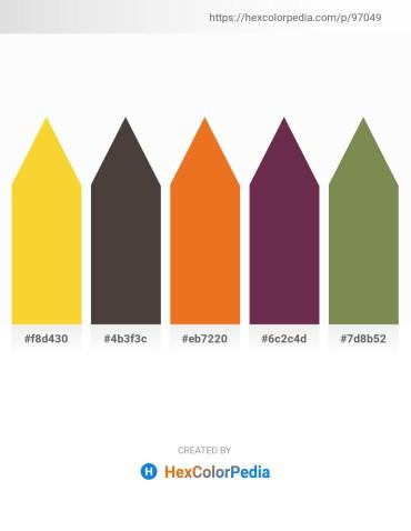 Palette image download - Gold – Dim Gray – Chocolate – Light Blue – Dark Olive Green