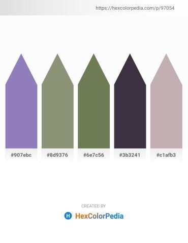 Palette image download - Light Slate Gray – Gray – Dark Olive Green – Dark Sea Green – Silver
