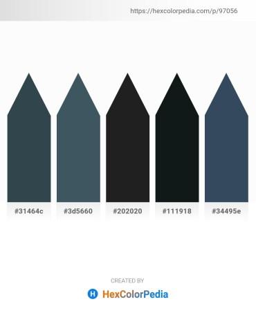 Palette image download - Dark Slate Gray – Dark Slate Gray – Black – Dark Slate Gray – Dark Slate Gray