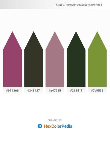 Palette image download - Sienna – Cadet Blue – Rosy Brown – Dark Slate Gray – Olive Drab