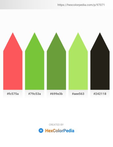 Palette image download - Tomato – Yellow Green – Olive Drab – Light Green – Black
