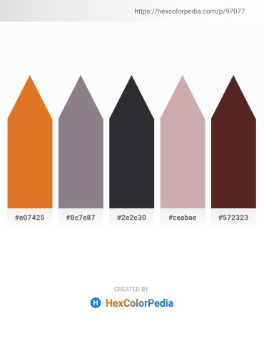 Palette image download - Chocolate – Gray – Dark Slate Gray – Rosy Brown – Black