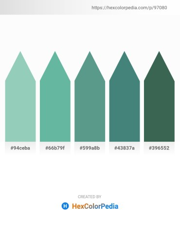 Palette image download - Dark Sea Green – Cadet Blue – Cadet Blue – Cadet Blue – Dark Slate Gray