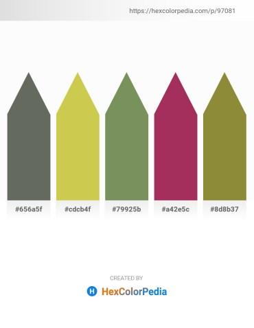 Palette image download - Dim Gray – Yellow Green – Dark Sea Green – Brown – Olive Drab