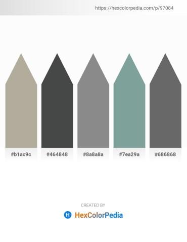 Palette image download - Dark Gray – Dark Slate Gray – Gray – Light Slate Gray – Dim Gray