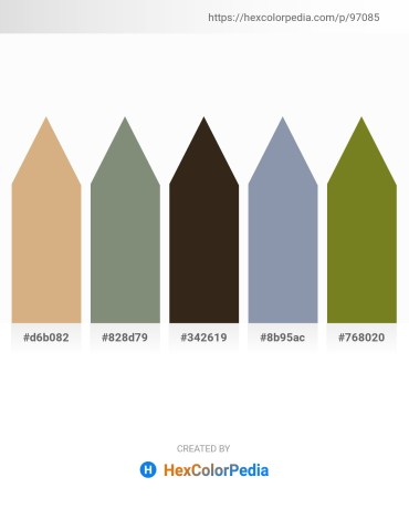 Palette image download - Burlywood – Gray – Dim Gray – Light Slate Gray – Olive Drab