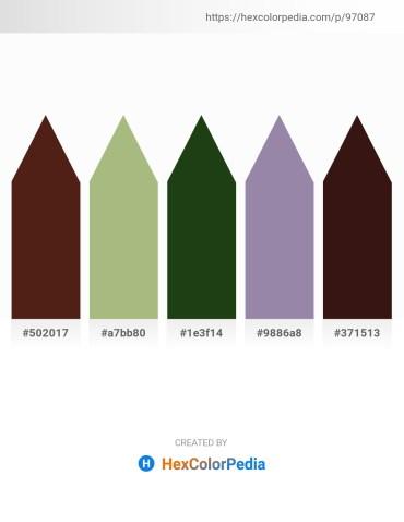 Palette image download - Saddle Brown – Dark Khaki – Dark Olive Green – Light Slate Gray – Burlywood