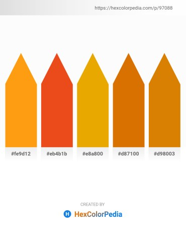 Palette image download - Orange – Chocolate – Orange – Dark Orange – Dark Orange
