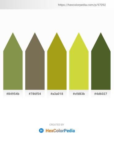 Palette image download - Dark Olive Green – Dim Gray – Dark Goldenrod – Yellow Green – Dark Olive Green