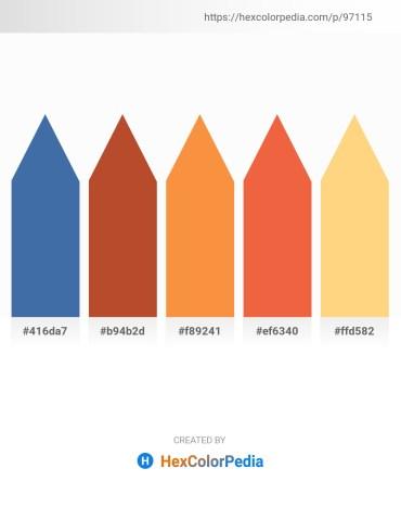 Palette image download - Steel Blue – Sienna – Coral – Tomato – Navajo White