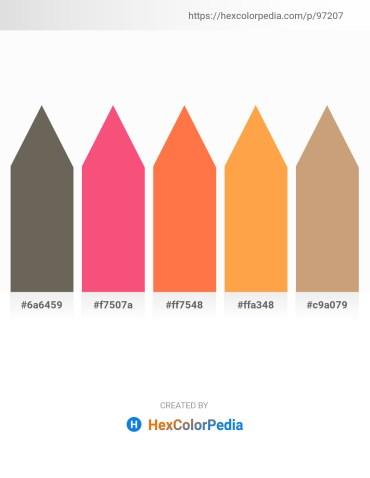 Palette image download - Dim Gray – Salmon – Coral – Coral – Tan