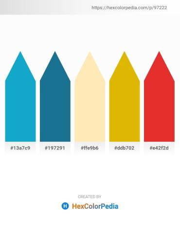 Palette image download - Light Sea Green – Gold – Moccasin – Orange – Crimson