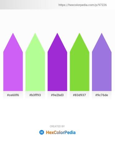 Palette image download - Medium Slate Blue – Pale Green – Dark Orchid – Yellow Green – Medium Purple