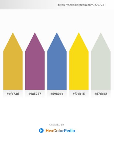 Palette image download - Goldenrod – Yellow Green – Steel Blue – Gold – Light Gray