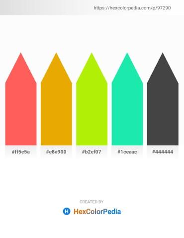 Palette image download - Tomato – Orange – Chartreuse – Turquoise – Dim Gray