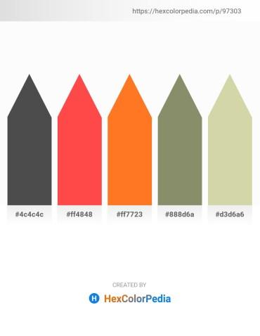 Palette image download - Dim Gray – Tomato – Dark Orange – Gray – Tan