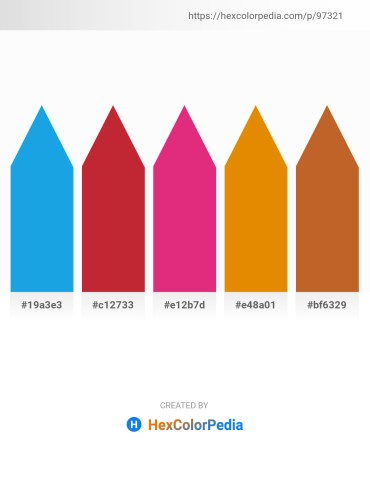Palette image download - Light Sea Green – Firebrick – Medium Violet Red – Dark Orange – Chocolate