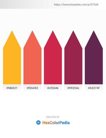 Palette image download - Orange – Tomato – Firebrick – Brown – Indian Red