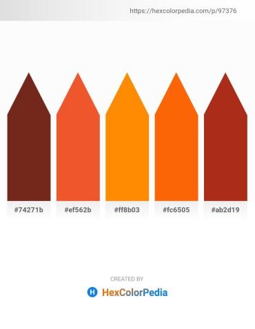 Palette image download - Saddle Brown – Chocolate – Dark Orange – Orange Red – Firebrick
