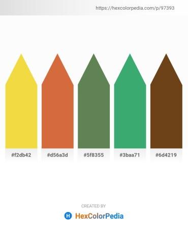 Palette image download - Gold – Peru – Dark Olive Green – Medium Sea Green – Saddle Brown