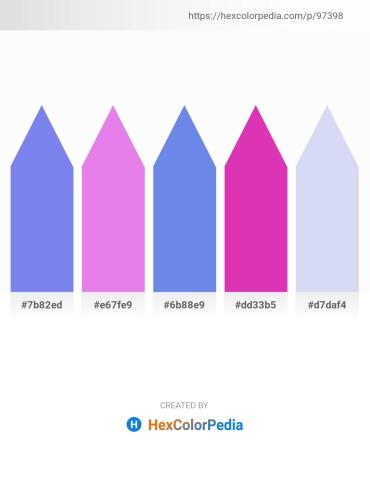 Palette image download - Medium Slate Blue – Medium Orchid – Cornflower Blue – Medium Violet Red – Lavender