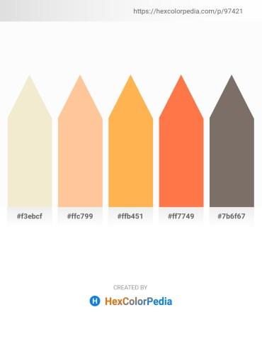 Palette image download - Beige – Navajo White – Sandy Brown – Coral – Dim Gray