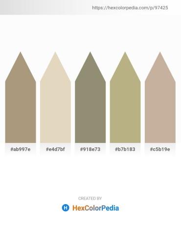 Palette image download - Rosy Brown – Beige – Gray – Dark Khaki – Rosy Brown